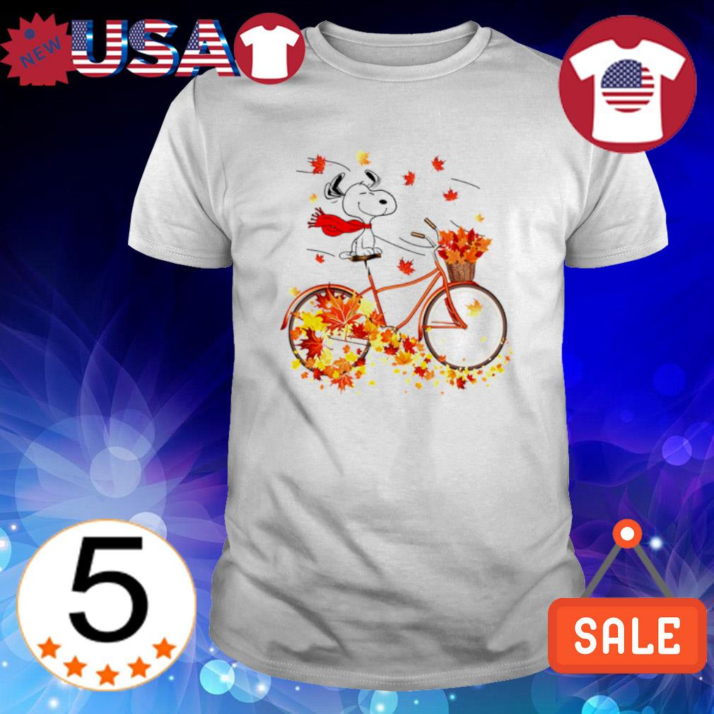 Snoopy Autumn driving bicycle shirt