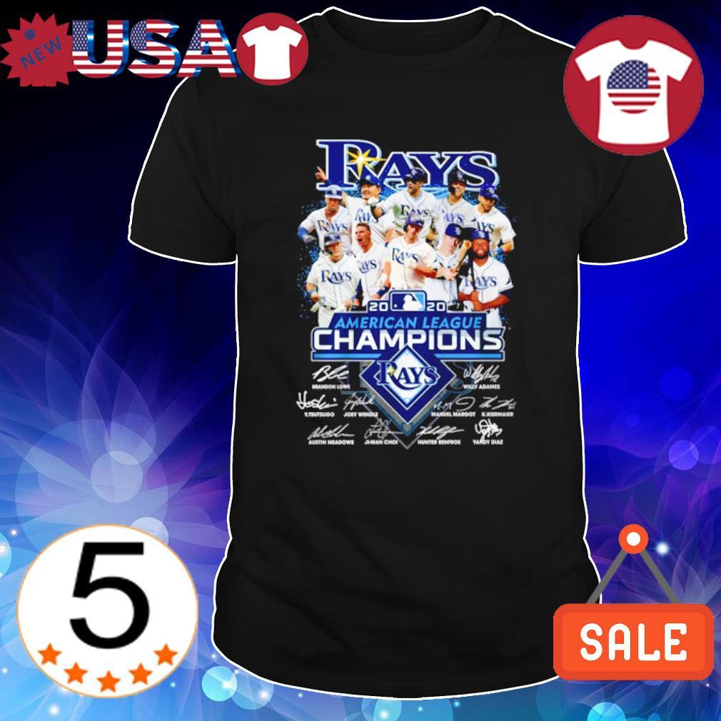 Tampa Bay Rays American league members signature shirt