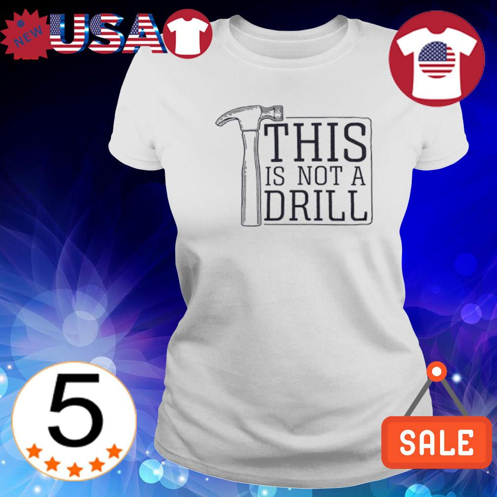 This is not a drill s Ladies Tee-White