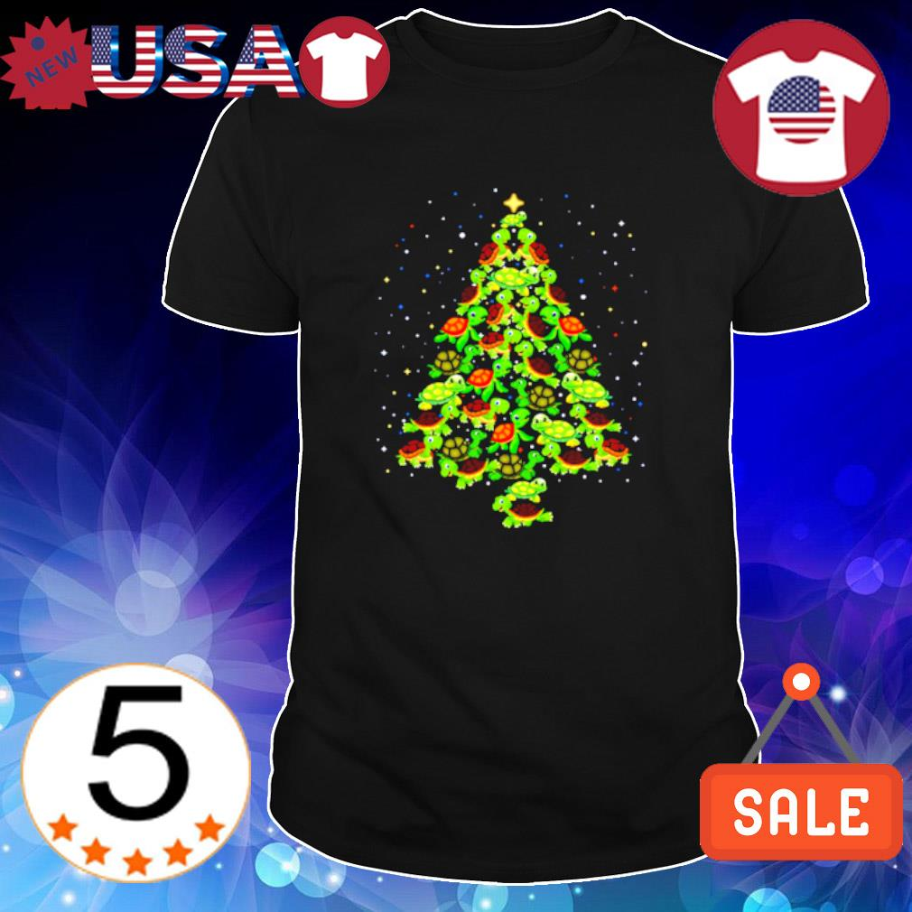 Turtle as Christmas tree shirt