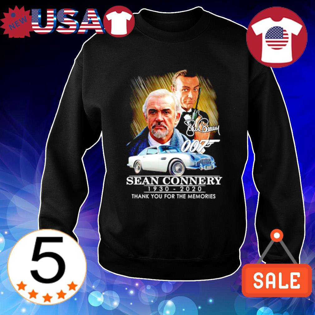 007 Sean Connery 1930 2020 thank you for the memories s Sweater Black