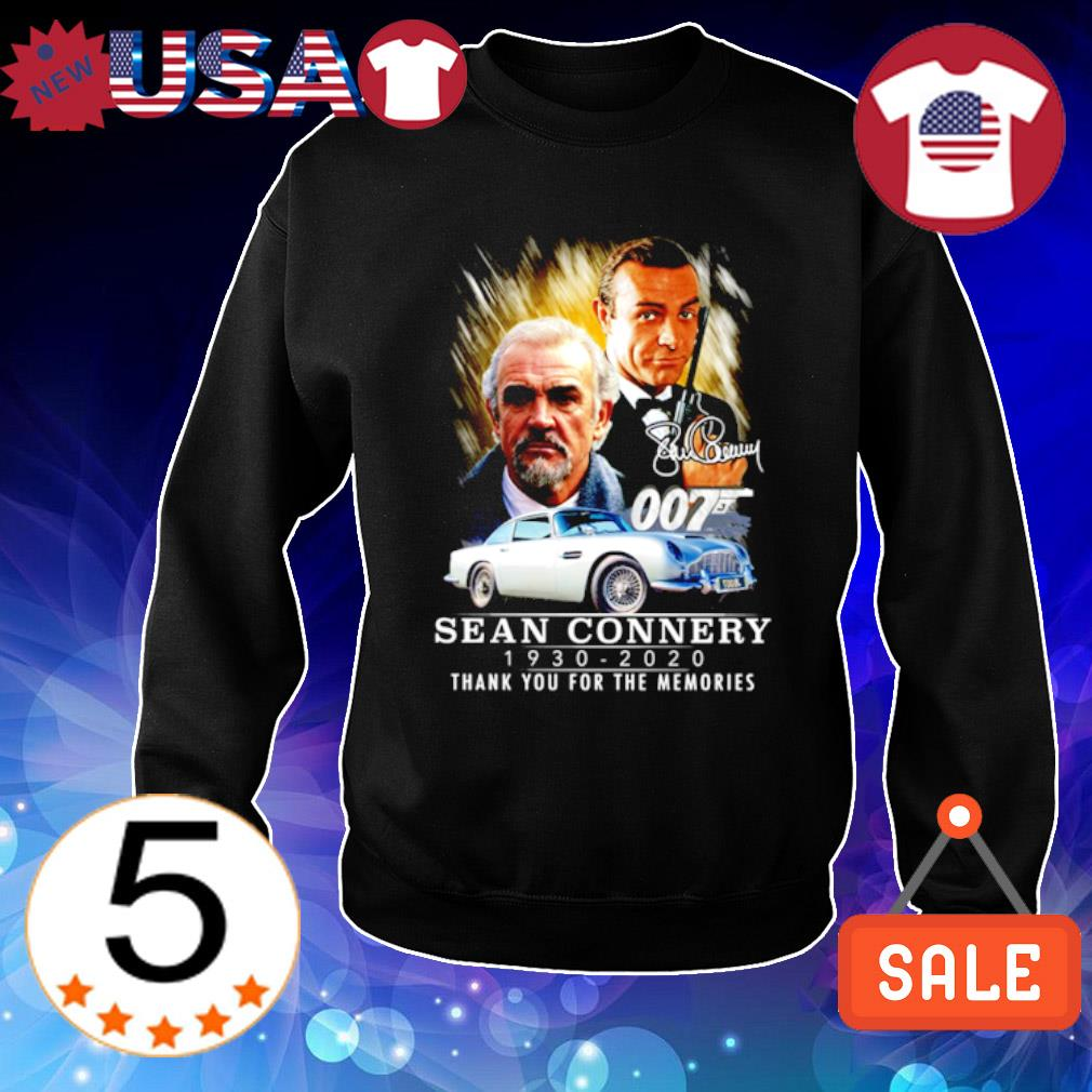 007 Sean Connery 1930 2020 thank you for the memories signature s Sweater Black