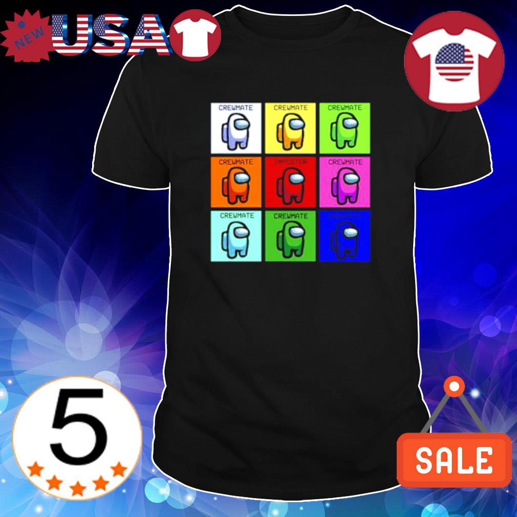 Among Us colors characters crewmate shirt