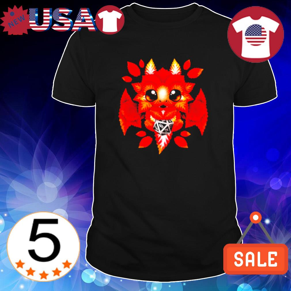 Autumn leaf as dragon Dungeon Master shirt