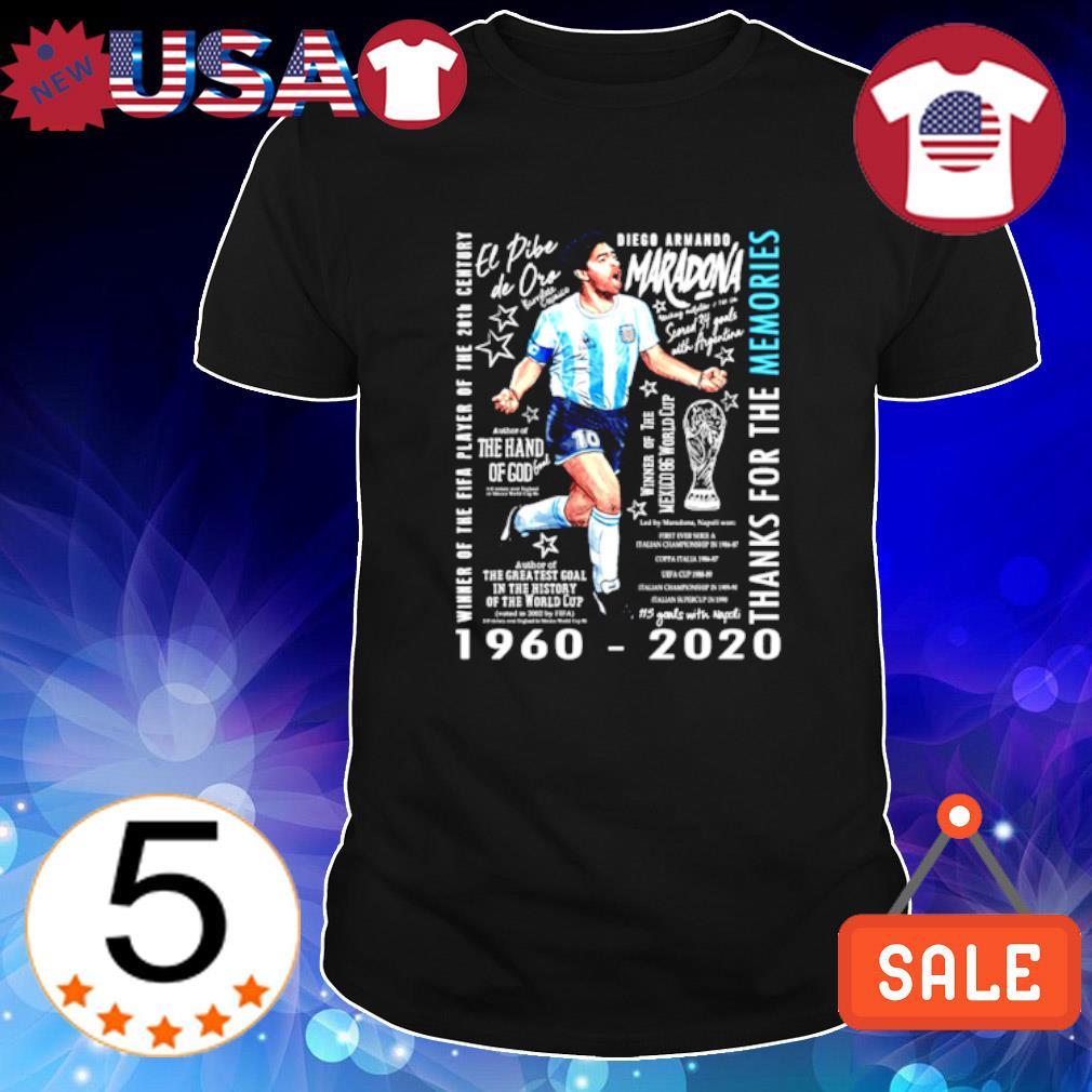 Diego Maradona winner of the fifa player of the 20th century shirt