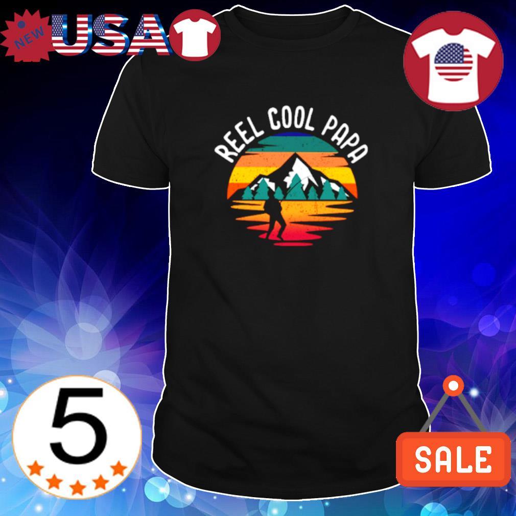 Fishing reel cool Papa vintage shirt