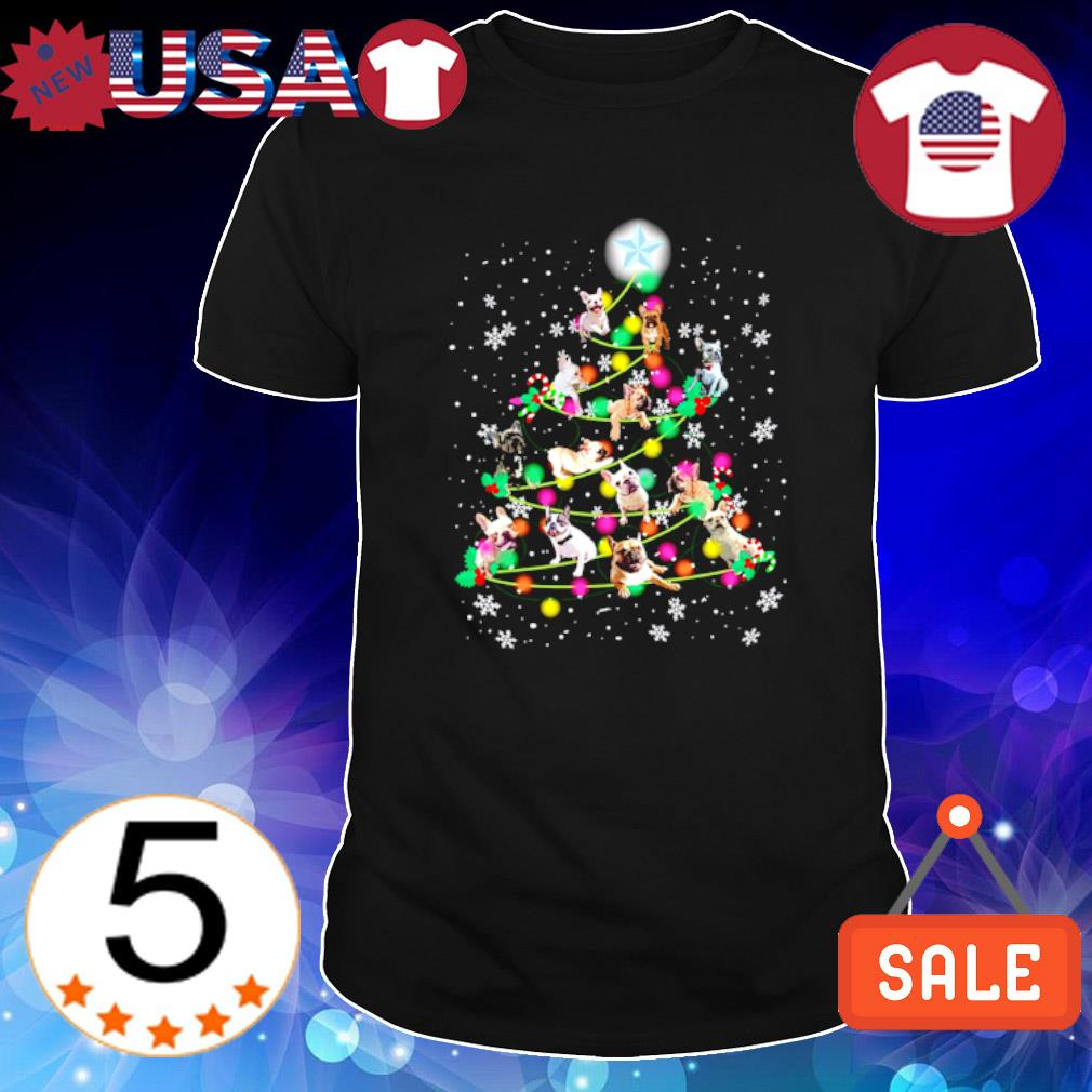 Frenchie as Christmas tree shirt