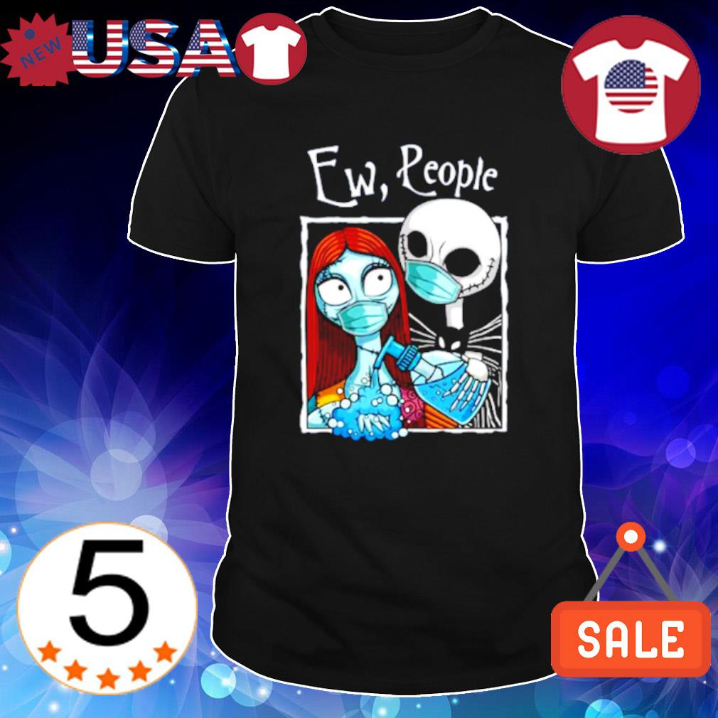Jack and Sally face mask wash hand ew people shirt