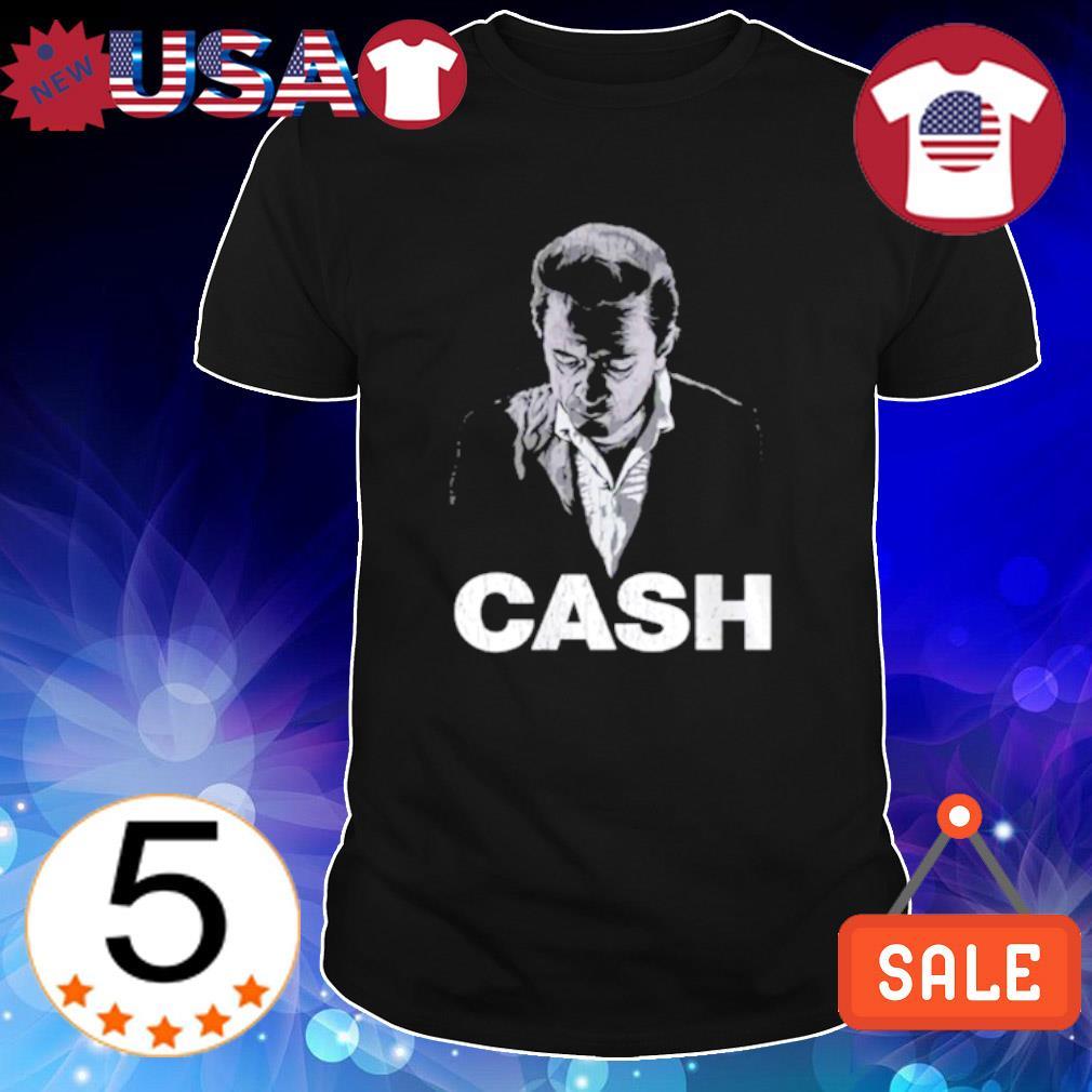 Johnny Cash man in black shirt