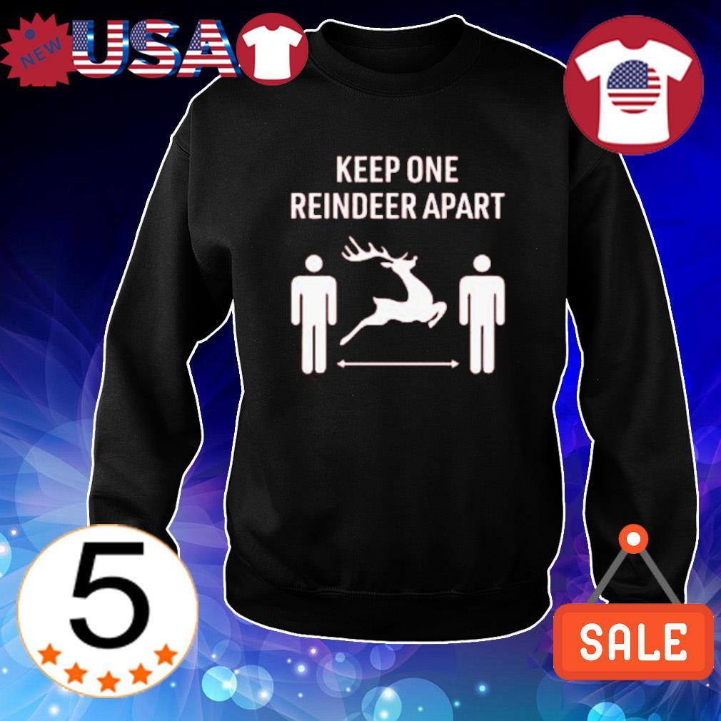 Keep one reindeer apart Christmas s Sweater Black