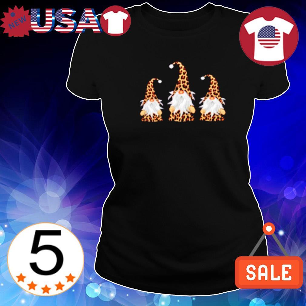 Leopard gnomes s Ladies Tee-Black