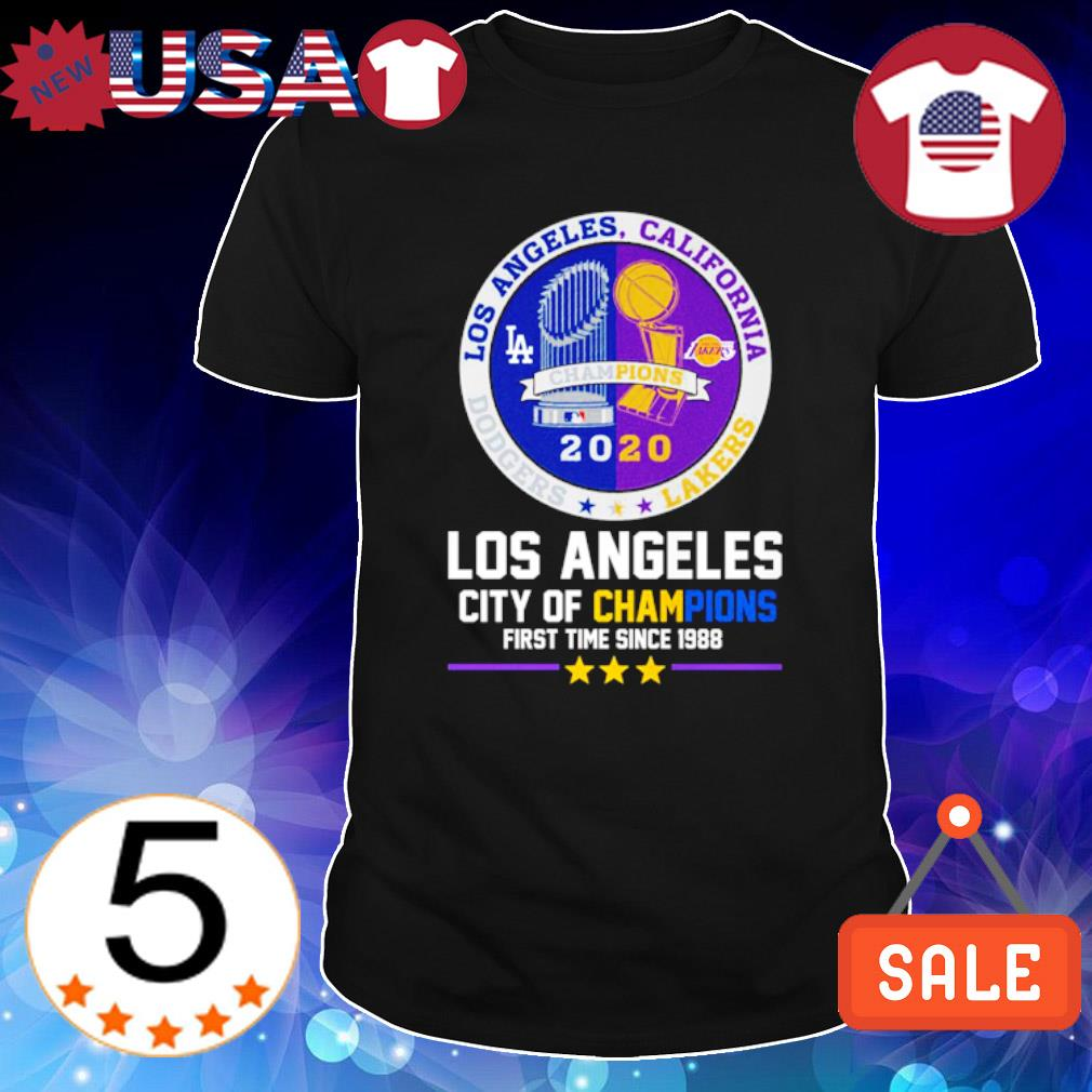 Los Angeles city of champions first time since 1988 shirt