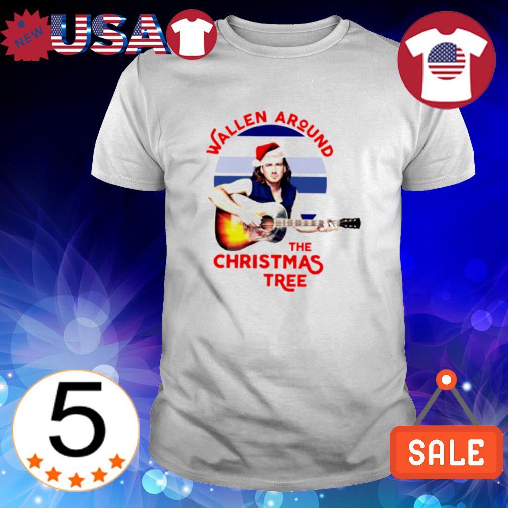 Morgan Wallen around the Christmas tree shirt