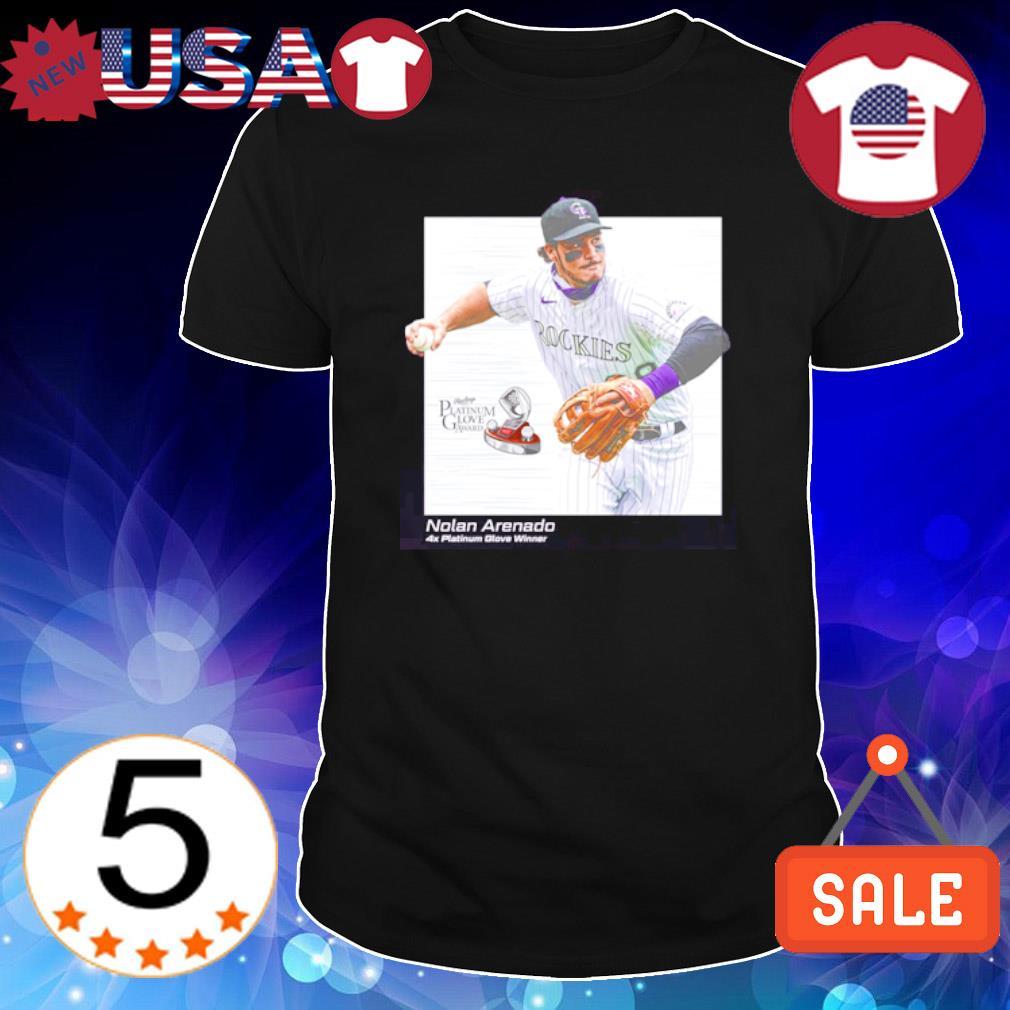 Nolan Arenado platinum glove award shirt