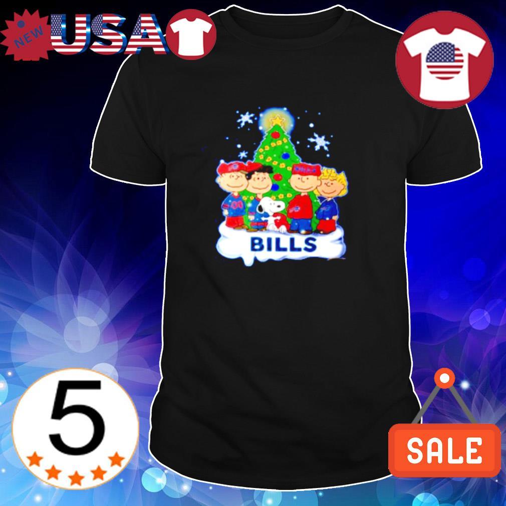Peanuts characters Bills Christmas tree shirt