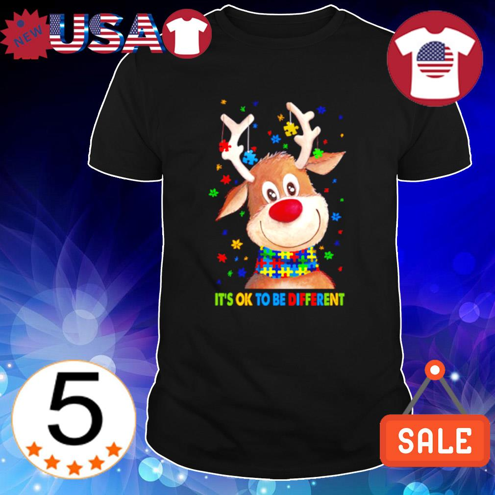 Reindeer Autism it's ok to be different shirt