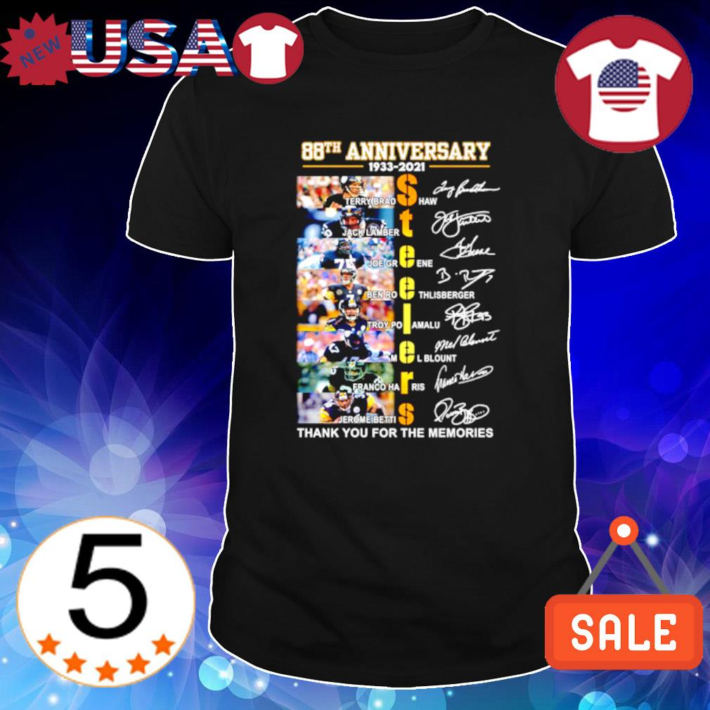 Steelers 88th Anniversary thank you for the memories signature shirt