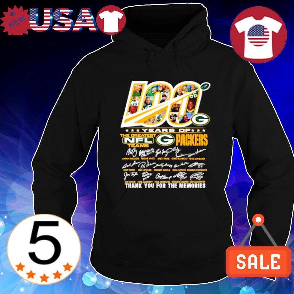100 years of Packers the greatest NFL thank you for the memories s Hoodie Black
