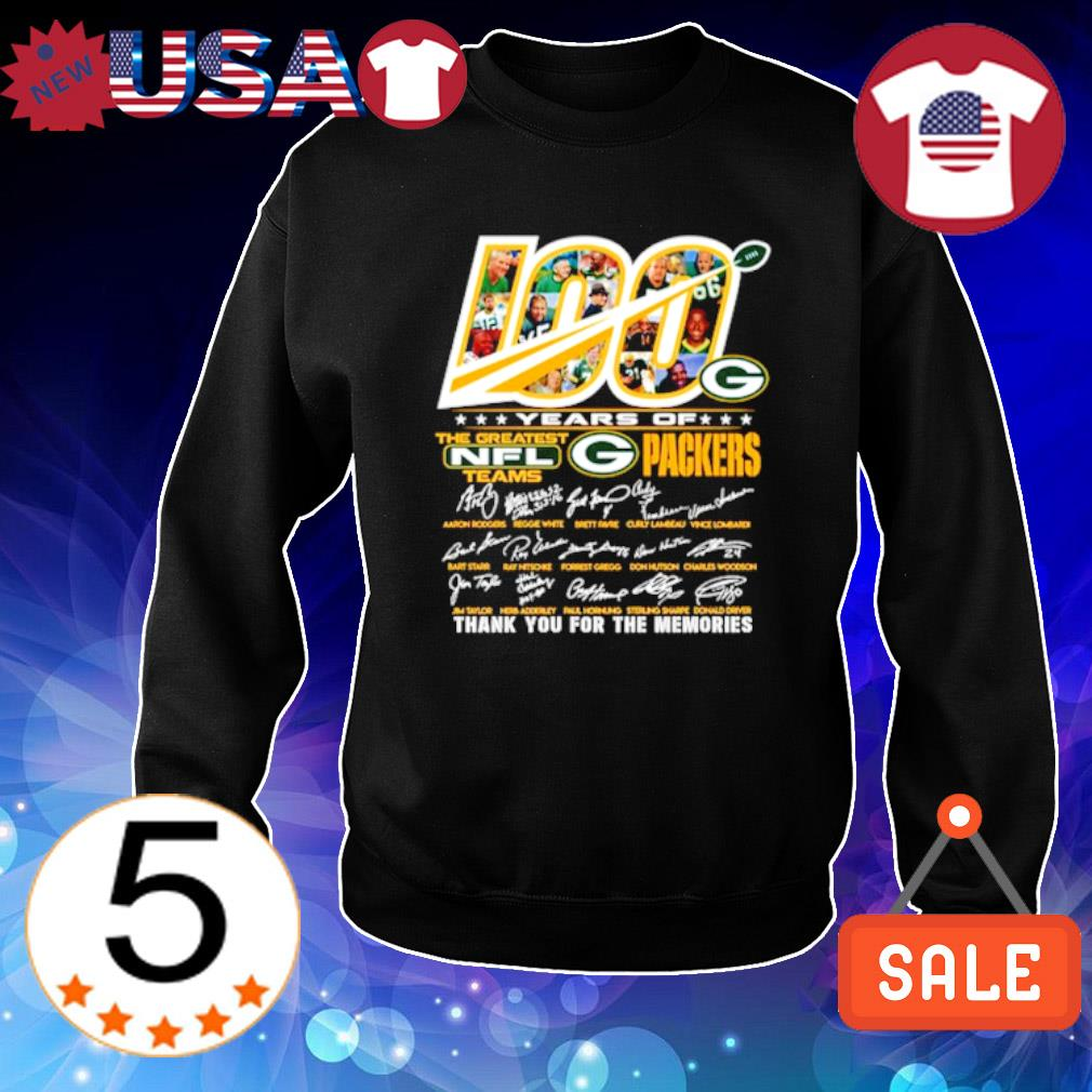 100 years of Packers the greatest NFL thank you for the memories s Sweater Black