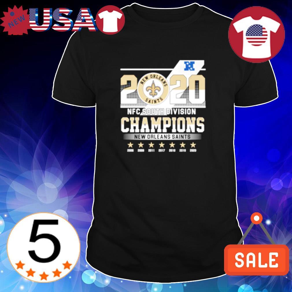 2020 NFC south division champions New Orleans Saints shirt