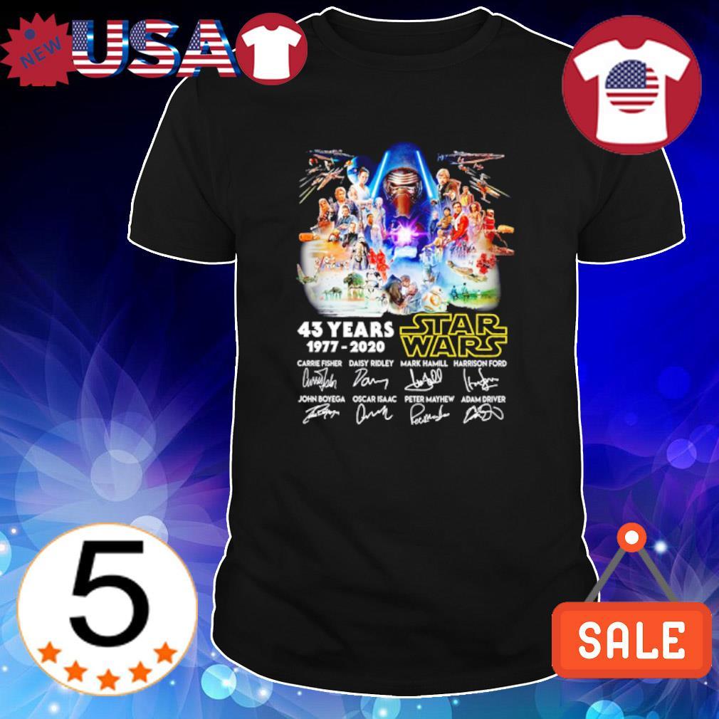 43 Years 1977 – 2020 Star Wars signatures shirt