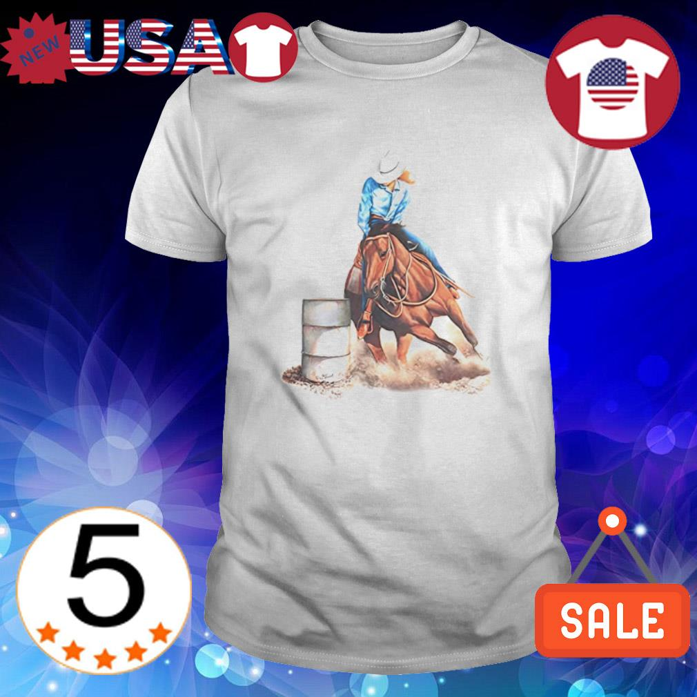 Barrel racing raglan pajama barrel racing girls shirt