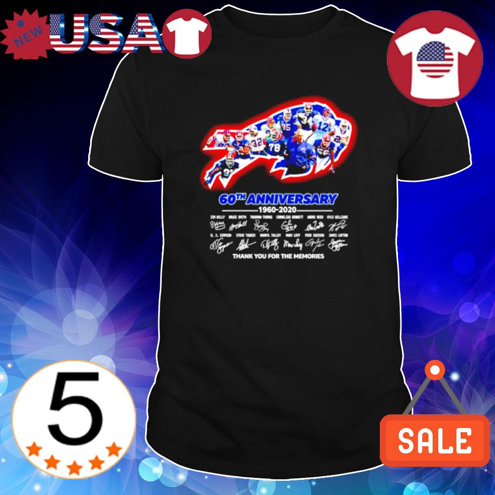 Buffalo Bills 60th Anniversary 1960 2020 thank you for the memories shirt