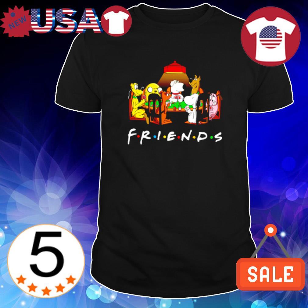 Friends Cartoon dogs playing poker shirt