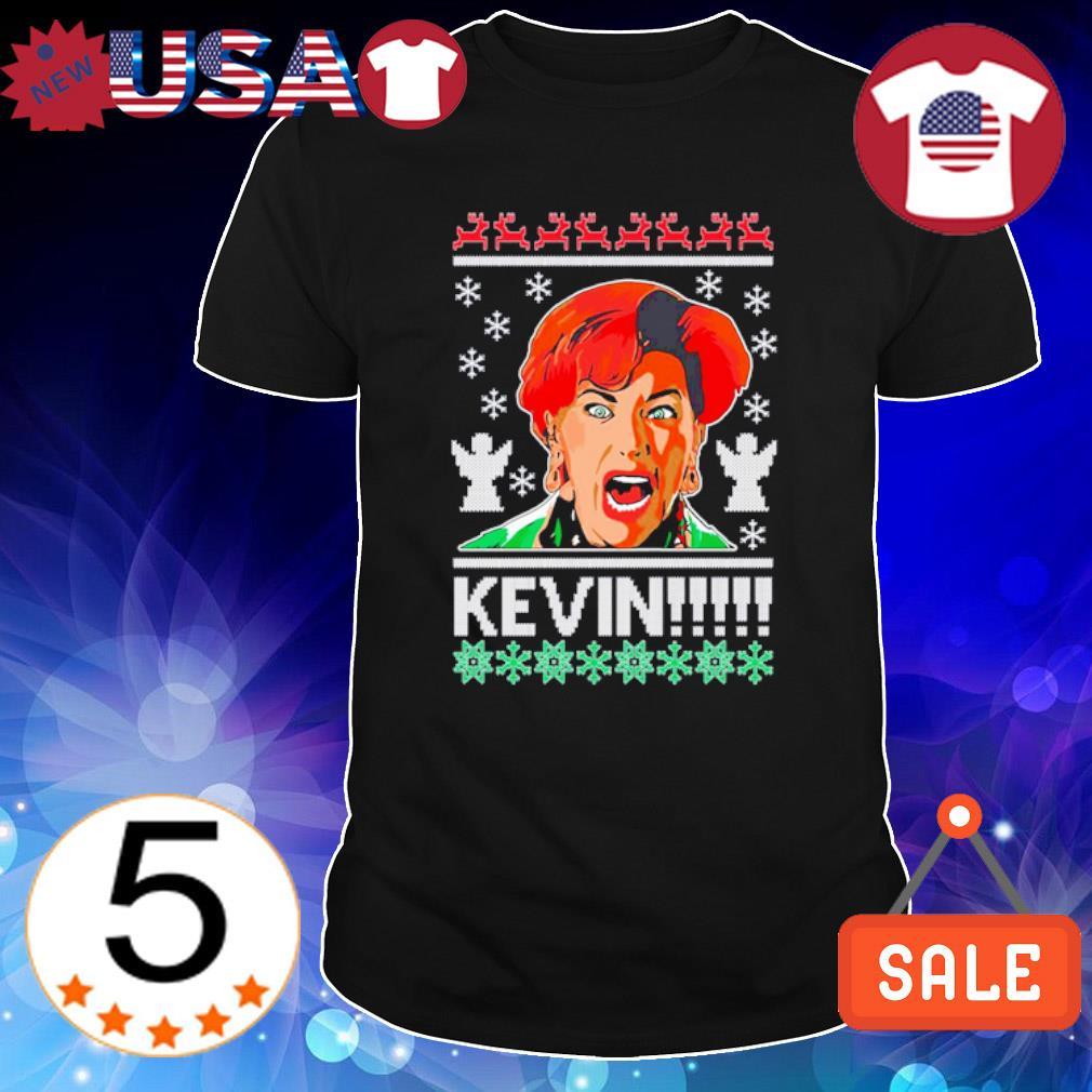 Kate McCallister Kevin ugly Christmas shirt