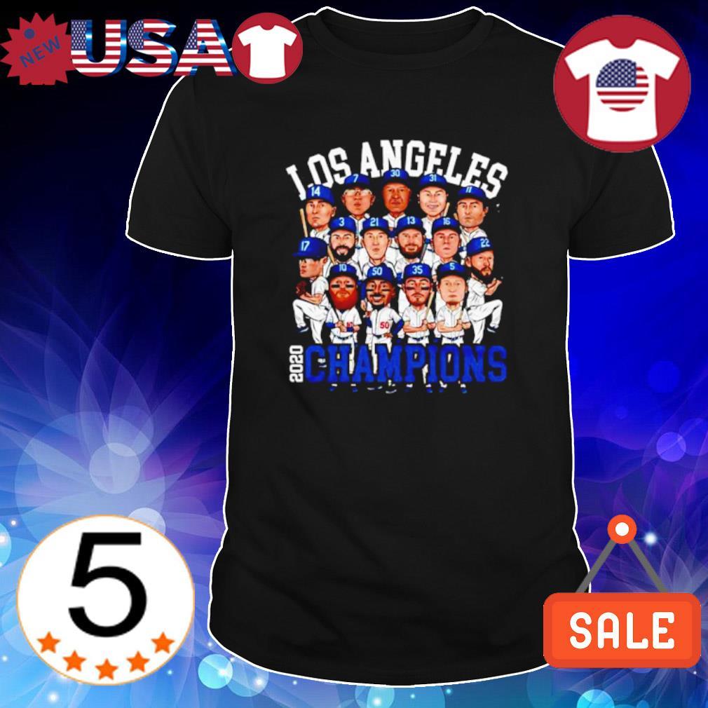 Los Angeles Dodgers 2020 champions players chibi shirt