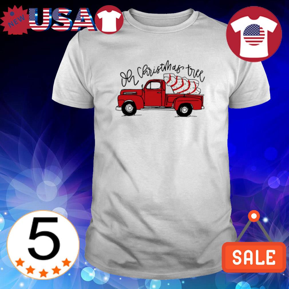 Red car oh Christmas Tree Snack Cakes shirt