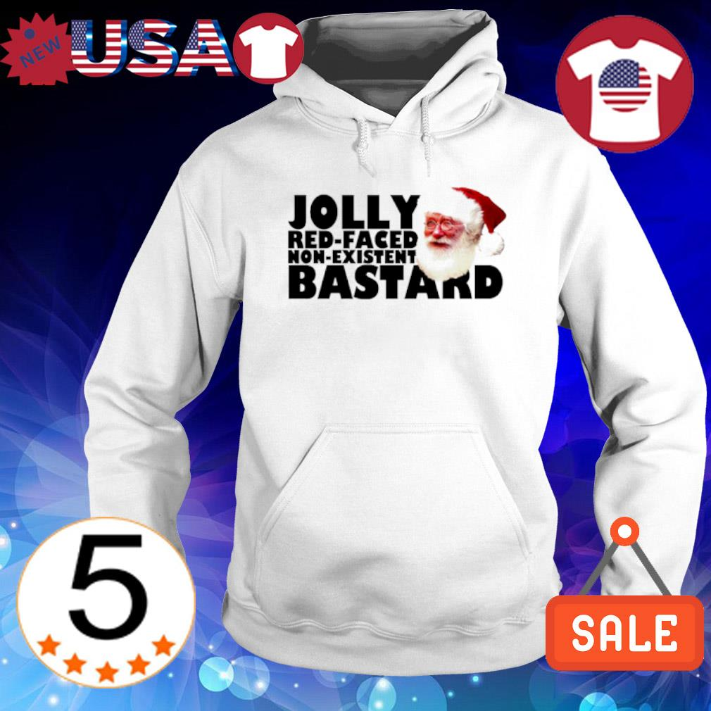 Santa Jolly red-faced non-existent bastard Christmas s Hoodie White