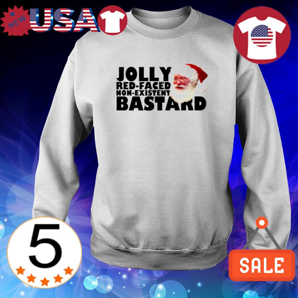 Santa Jolly red-faced non-existent bastard Christmas s Sweater White