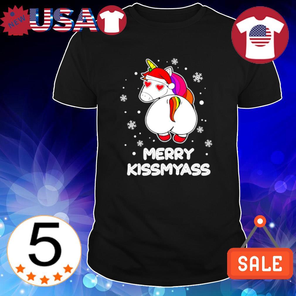 Santan LGBT Unicorn merry kissmyass shirt