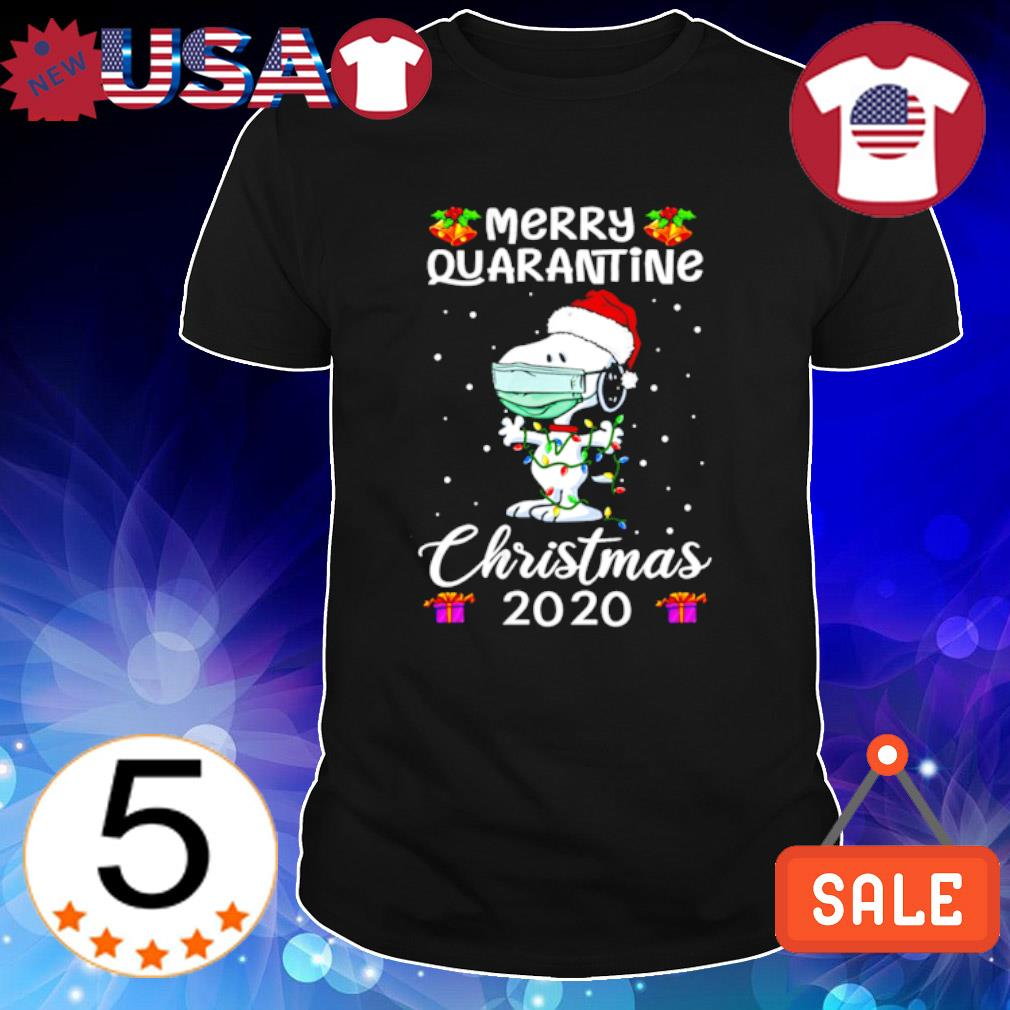Snoopy face mask merry quarantine Christmas 2020 shirt