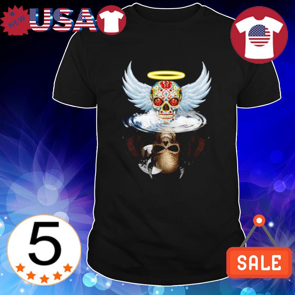 Sugar Skull evil devil water mirror shirt