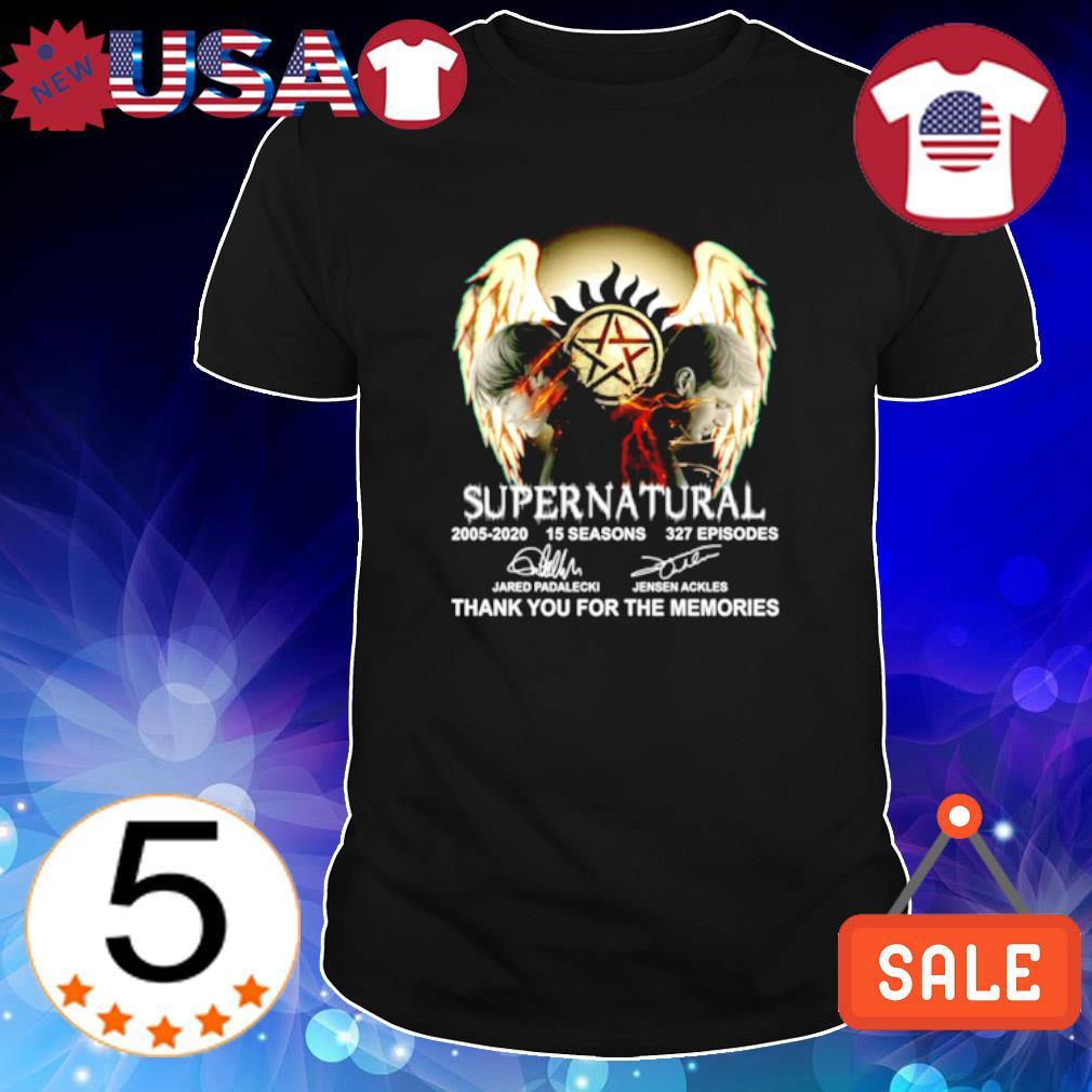 Supernatural 2005 2020 thank you for the memories signature shirt