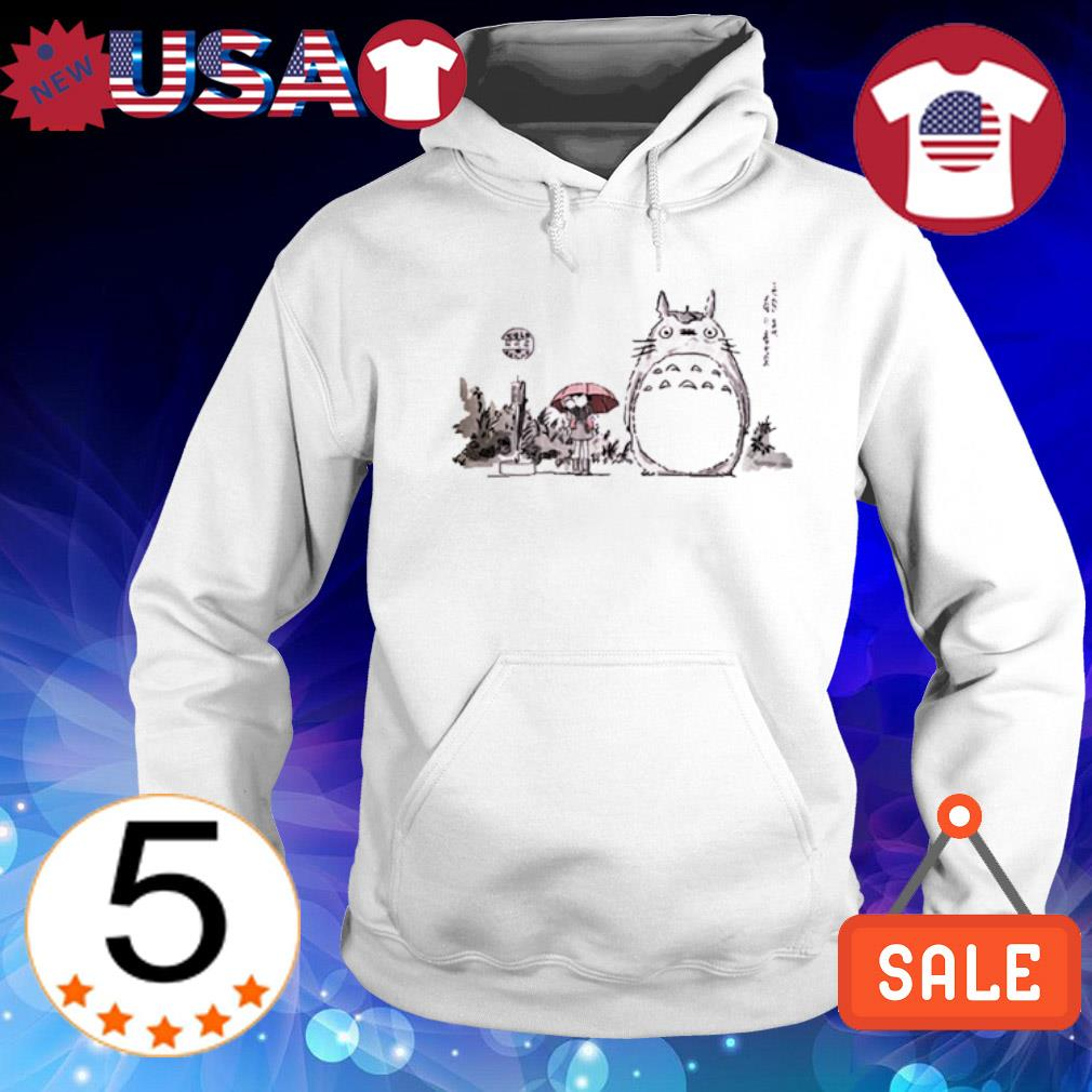 Totoro on a Tree s Hoodie White