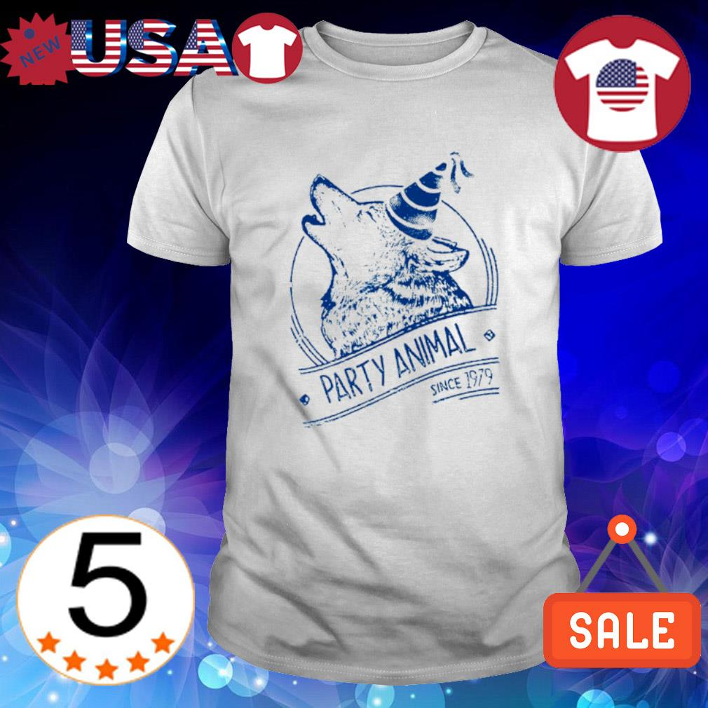 Wolf party animal since 1979 shirt