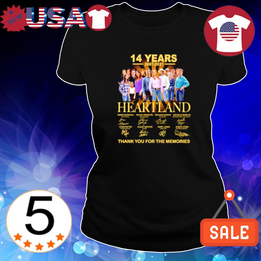 14 years 2007 2021 Heartland thank you for the memories s Ladies Tee-Black