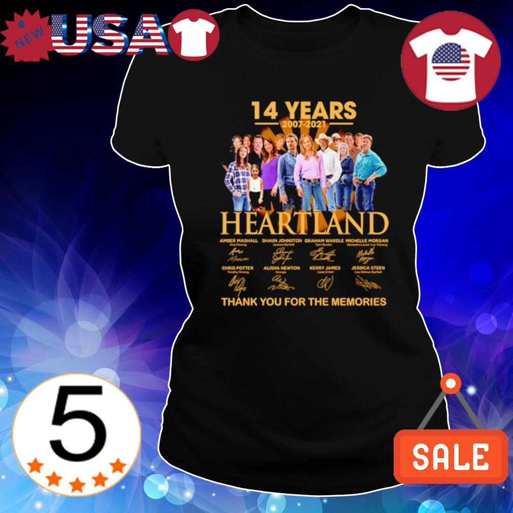 14 years of Heartland 2007 2021 thank you for the memories s Ladies Tee-Black