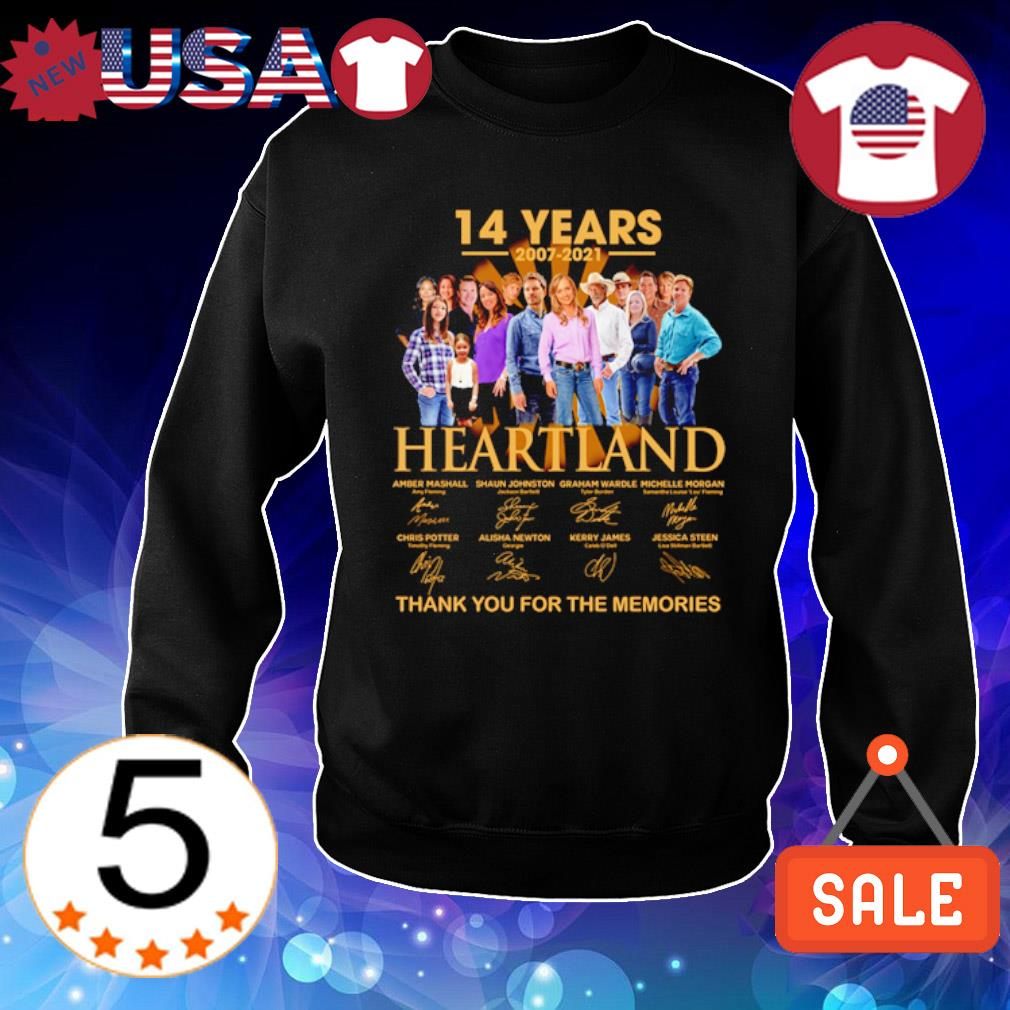 14 years of Heartland 2007 2021 thank you for the memories s Sweater Black