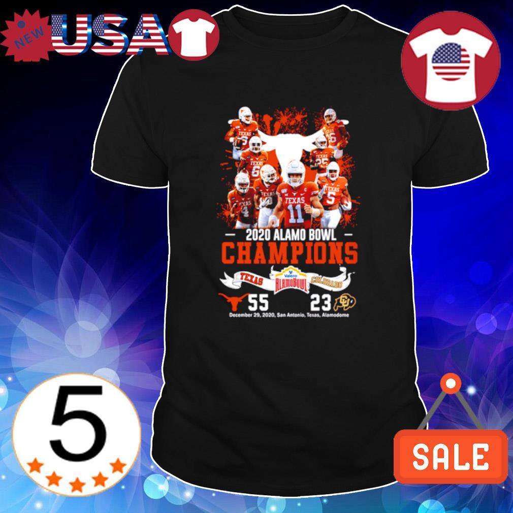 2020 Valero Alamo Bowl Champions Texas Longhorns vs Colorado Buffaloes shirt