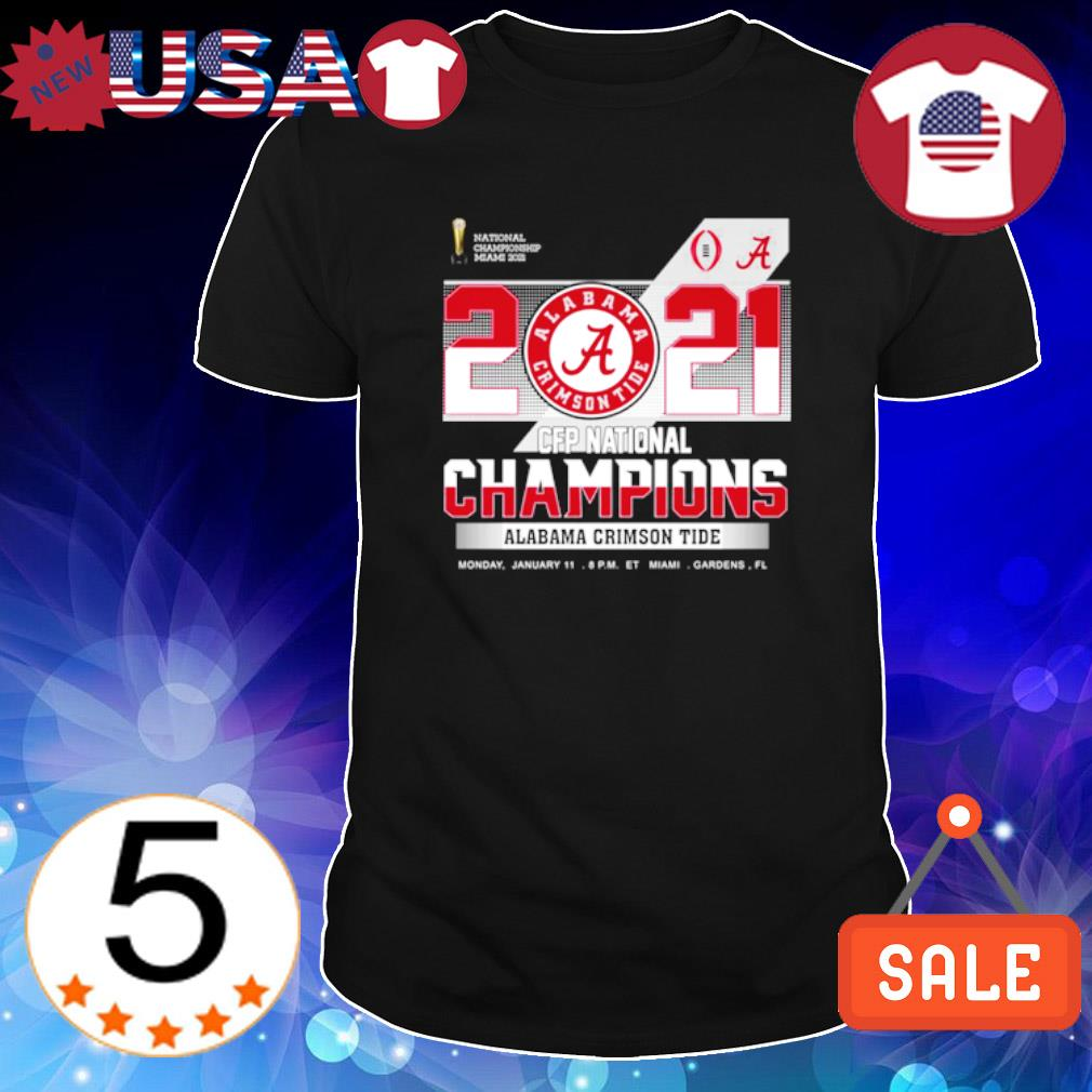 2021 CFP national champions Alabama Crimson Tide shirt