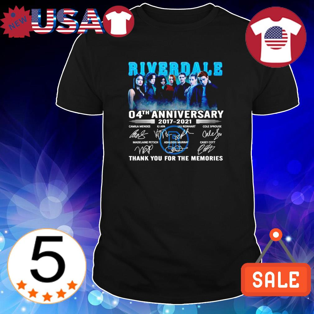 4 years of Riverdale 2017 2021 thank you for the memories shirt