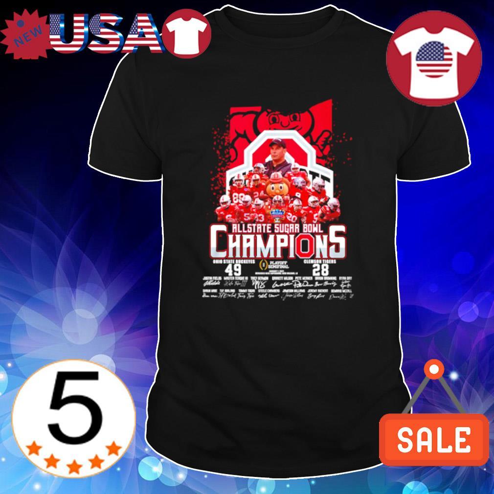 All state sugar bowl champions Ohio State Buckeyes vs Clemson Tigers shirt