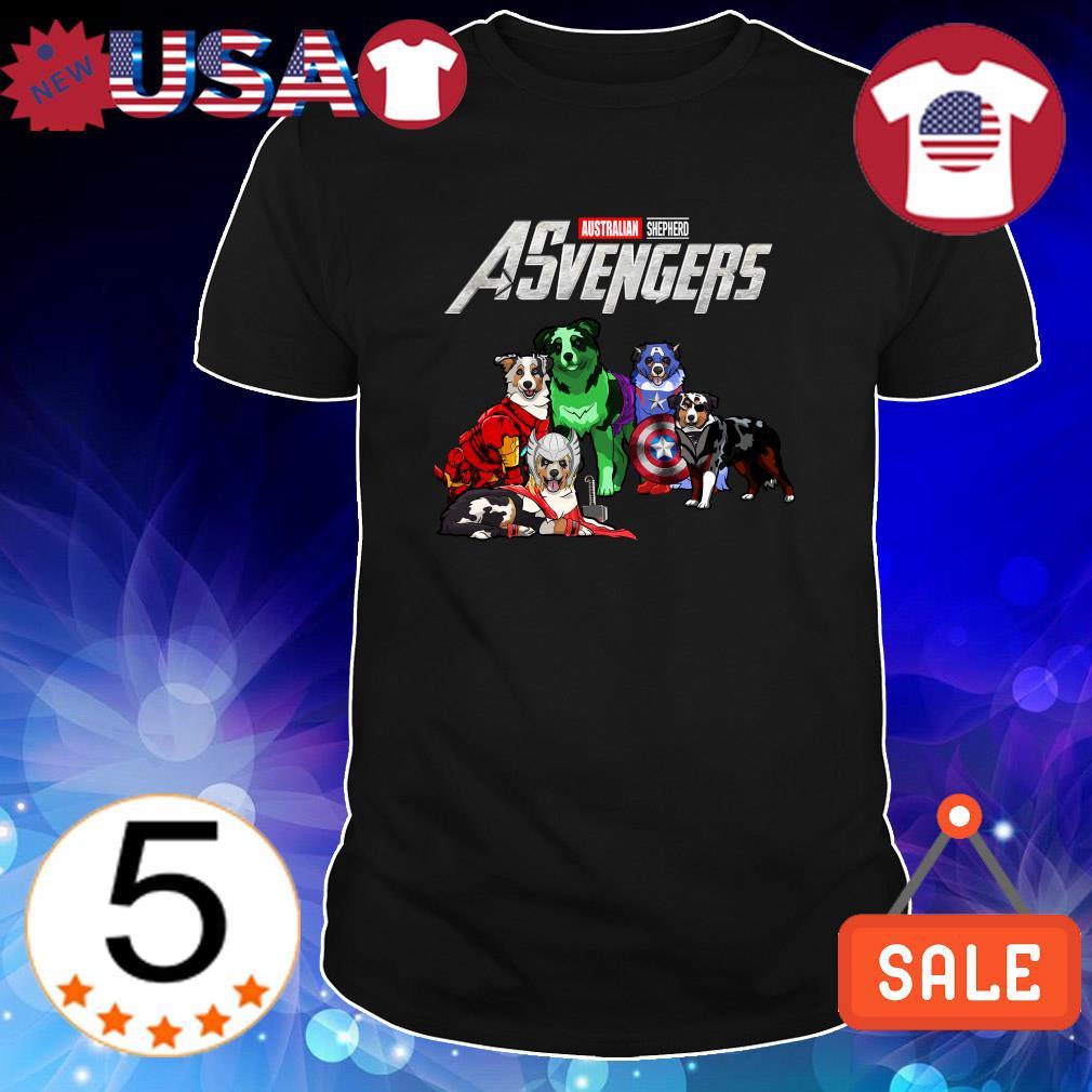 Australian Shepherd Marvel Avengers ASvengers shirt