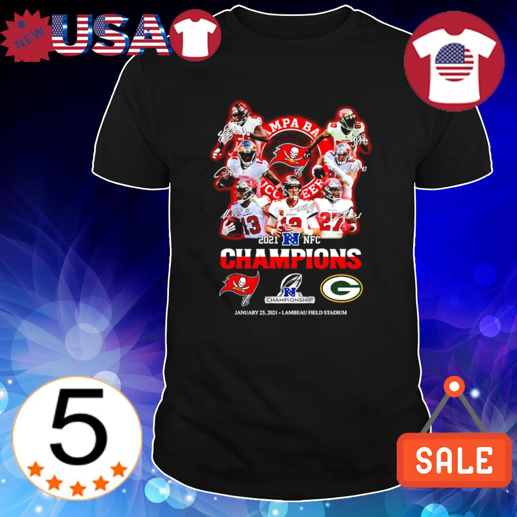 Buccaneers 2021 NFC champions Buccaneers vs Packers January 25 shirt