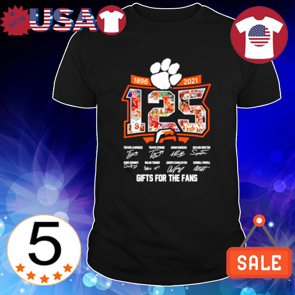 Clemson Tigers 1896 2021 125 years gifts for the fans shirt