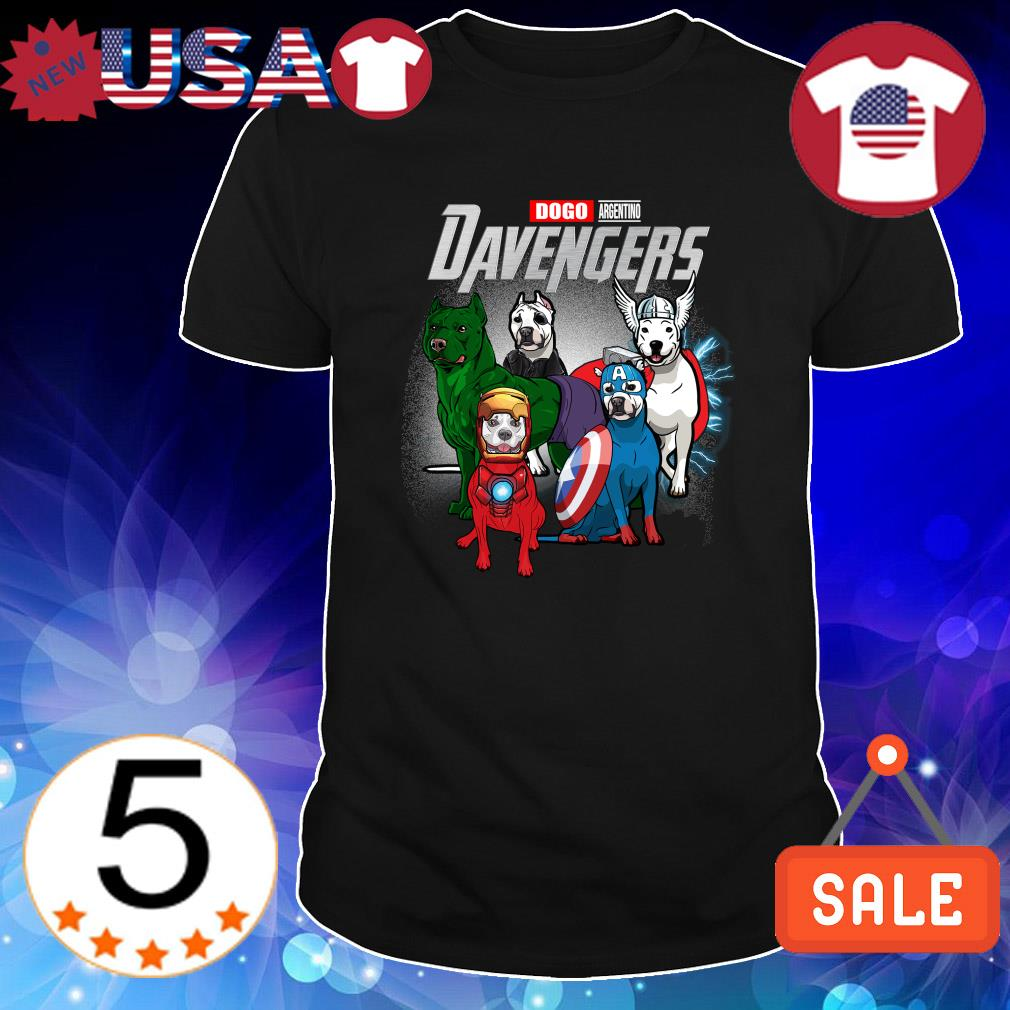 Dogo Argentino Marvel Avengers DAvengers shirt